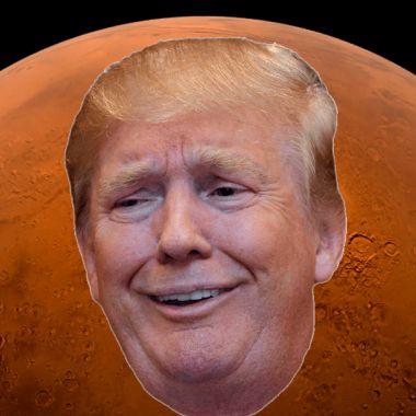 Donald Trump, Estados Unidos, Bandera, Marte