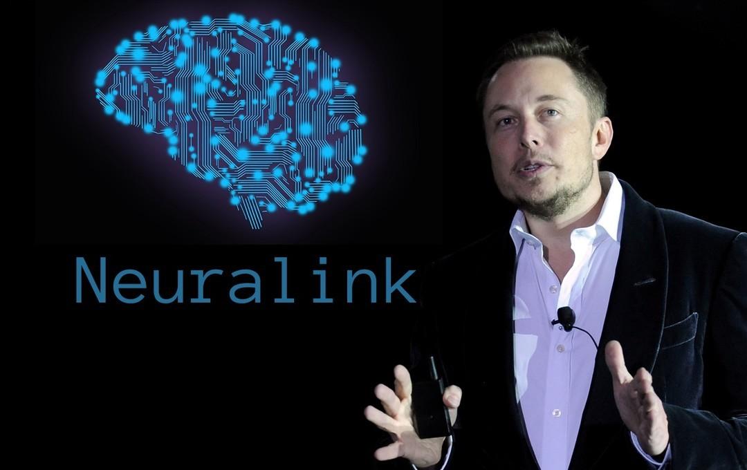 El famoso Elon Musk con el logo de Neurolink