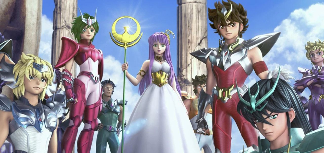 Una imagen oficial del anime Saint Seiya de Netflix