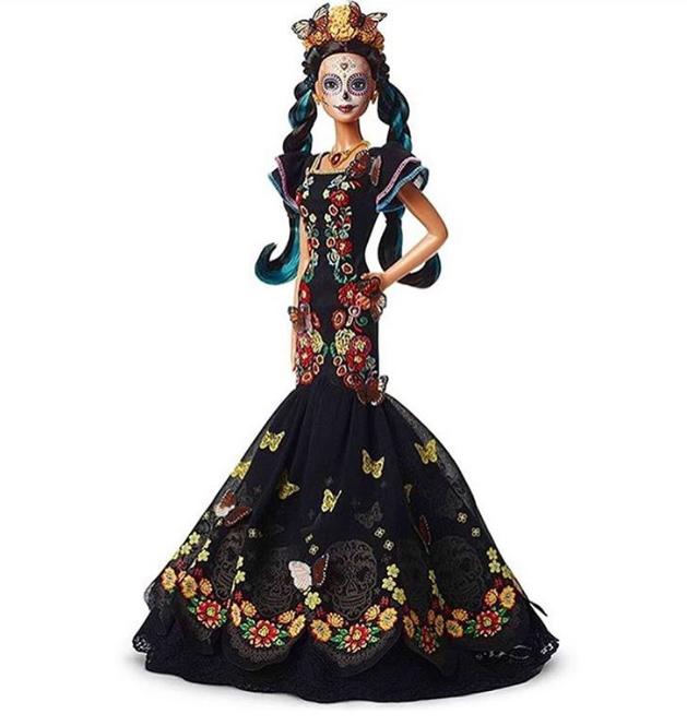 26/08/19 Barbie, Día Muertos, Muñeca, Mattel