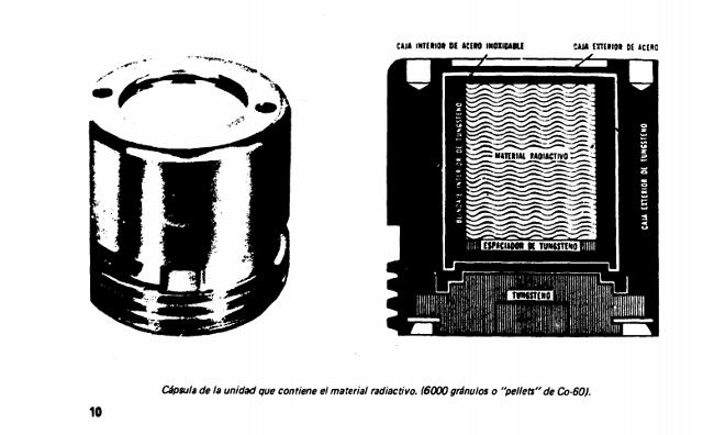 Cápsula de la unidad que contiene el material (Informe: accidente por contaminación con cobalto-60 méxico 1984)