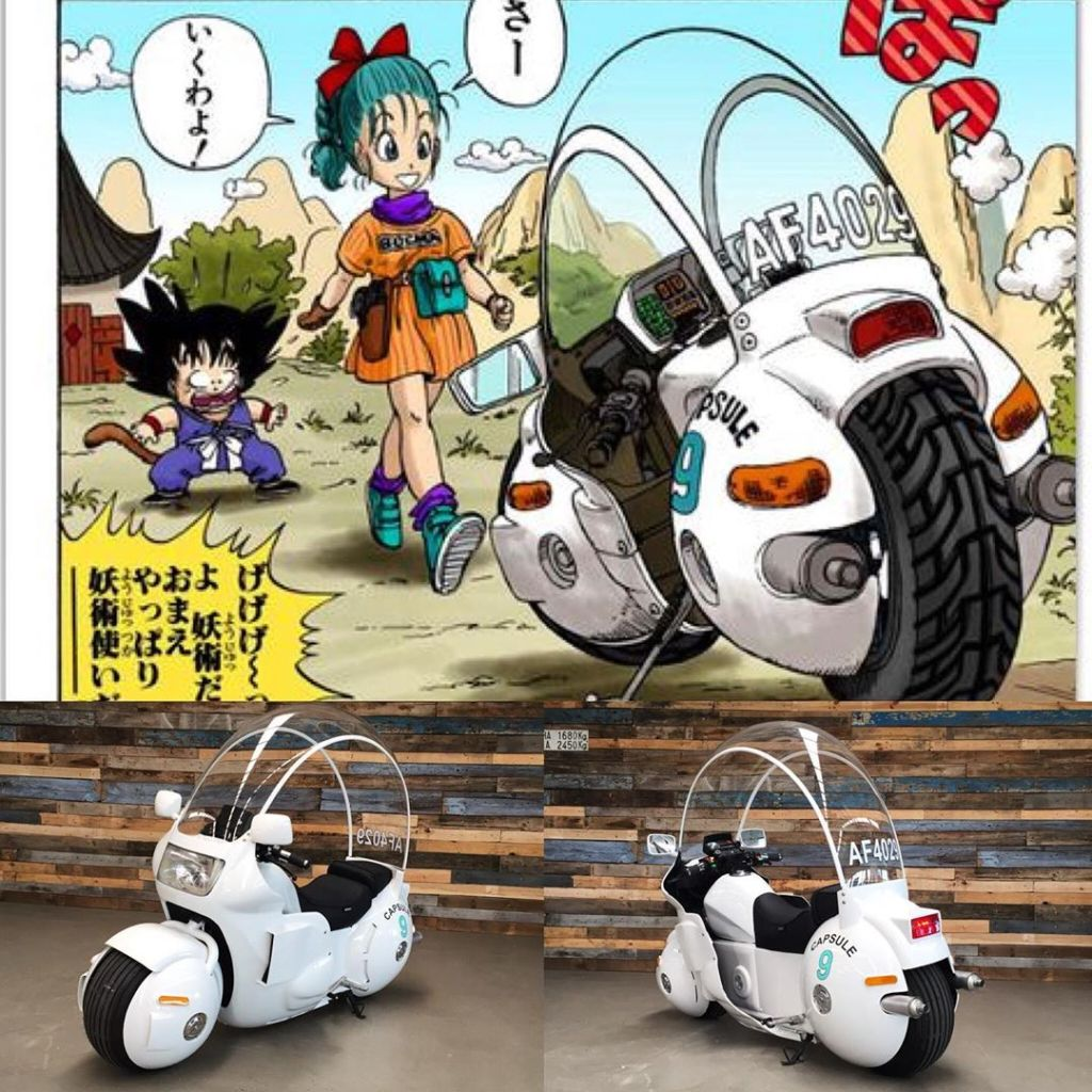 08/08/19 Dragon Ball, Bulma, Moto, Capsule Corp
