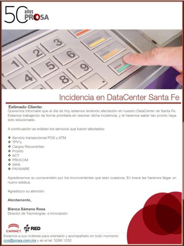 Fallas en el sistema de pagos con tarjeta 2019