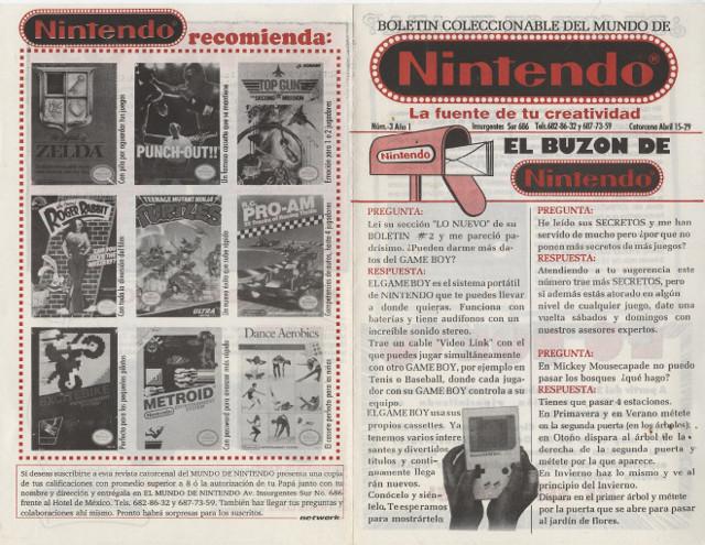 Número 3 Año 1 del Mundo de Nintendo.