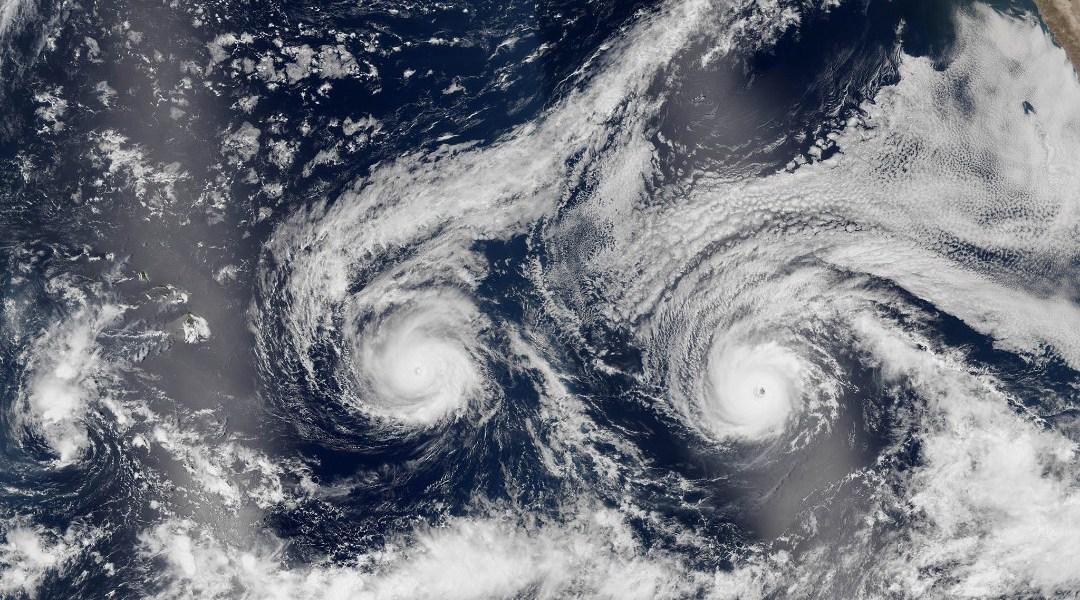 Efecto Fujiwhara qué es dos huracanes colisionan