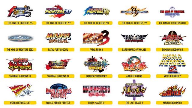 Arcade Stick Pro Títulos SNK
