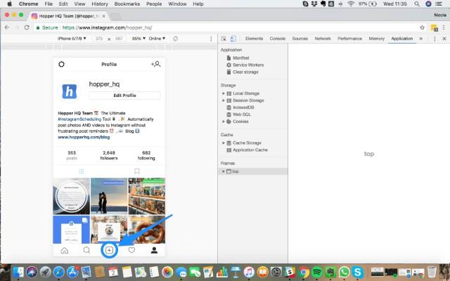 Captura de pantalla de Google Chrome herramientas de desarrollador