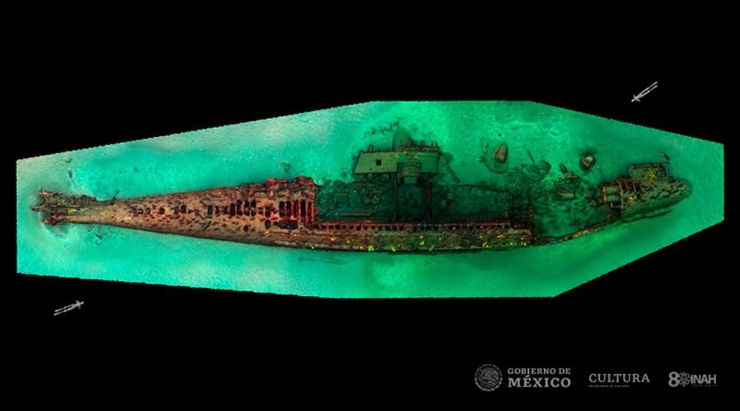 Encuentra submarino de 1ra Guerra Mundial hundido en México