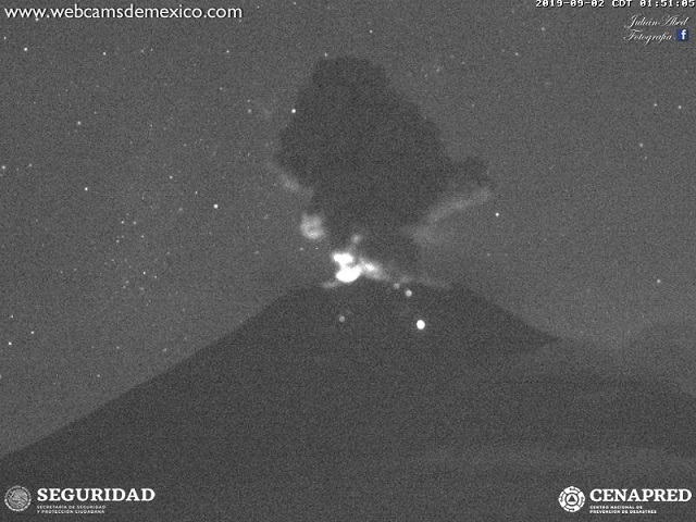 volcan popocatepetl 2 de septiembre