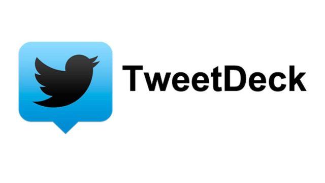 Logo de Twitter con Tweetdeck