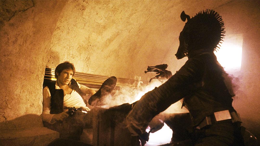 Han Solo y Greedo se disparan