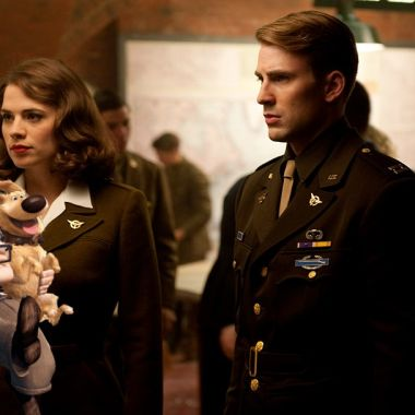 Fanart de Capitan America y Peggy Carter