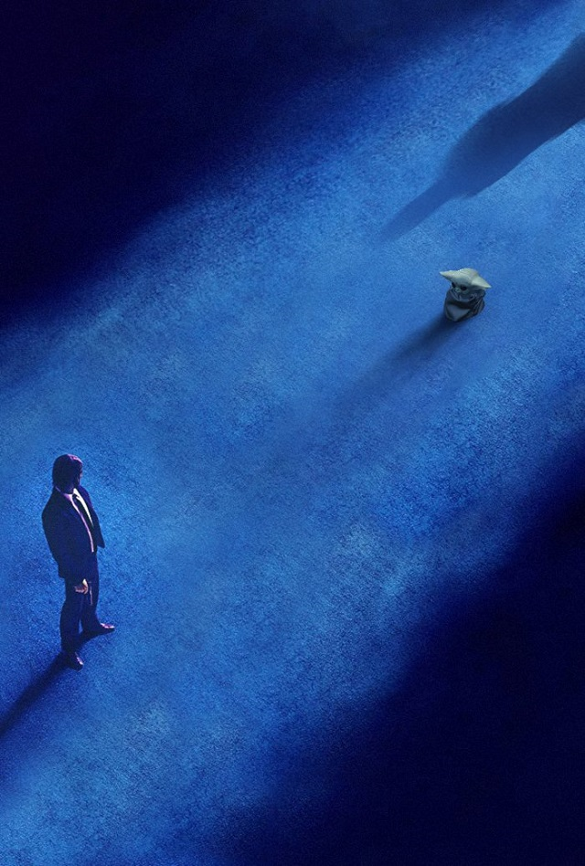 John Wick-Baby Yoda-The Mandalorian