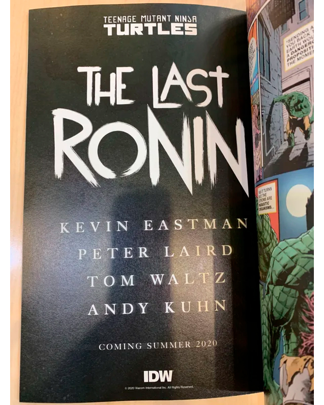 The Last Ronin TMNT
