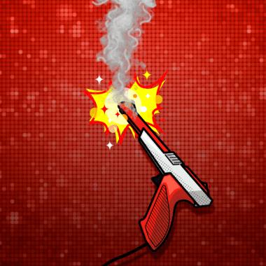 Violencia Videojuegos pistola zapper con fuego