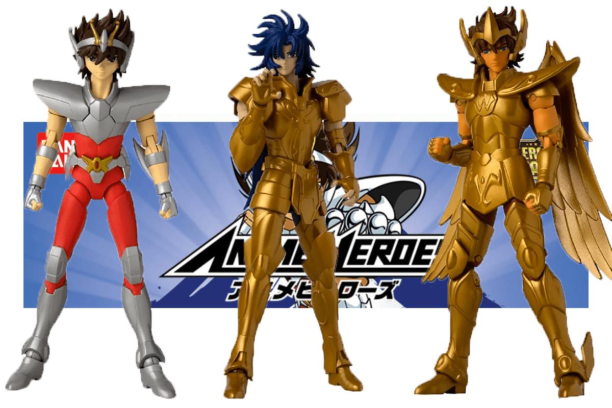 Las nuevas figuras de acción de Caballeros del Zodiaco