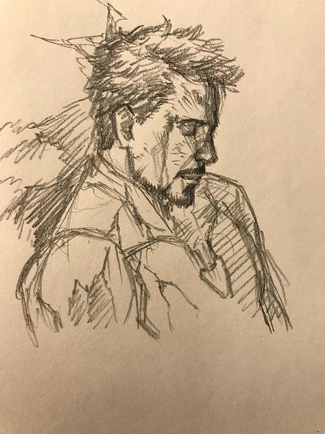 El dibujo de Iron Man realizado por animador de Naruto
