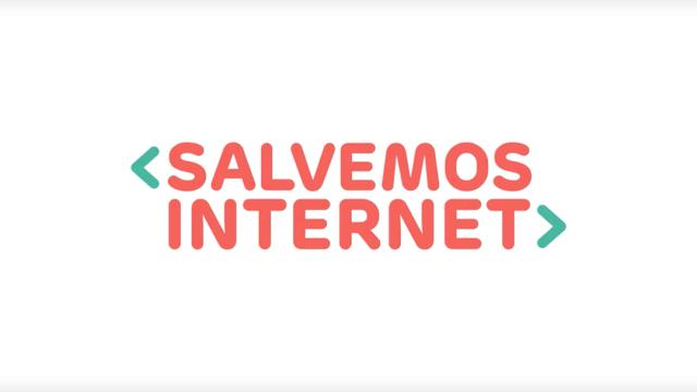 El logo de la campaña Salvemos Internet