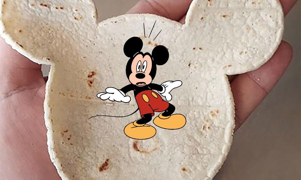 Tortilla Mickey Mouse mexicana