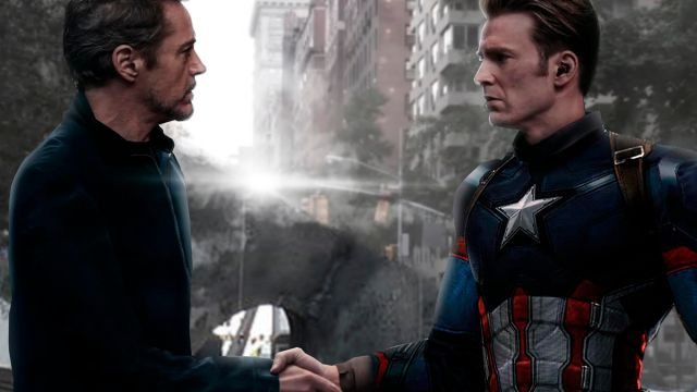 Capitan América Iron Man Avengers Endgame
