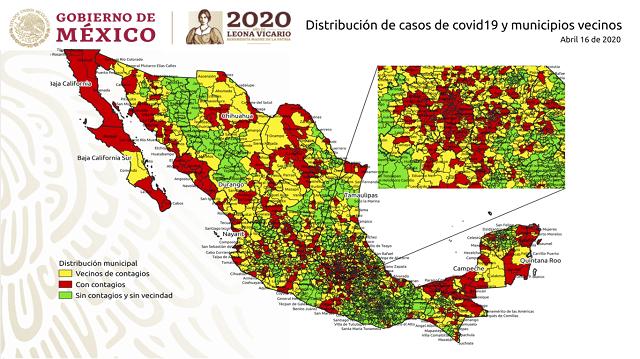 Mapa Contagios México Coronavirus