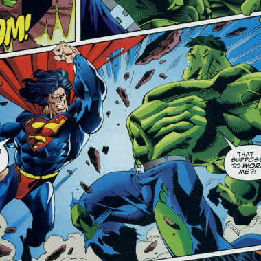 Hulk contra Superman en DC vs Marvel