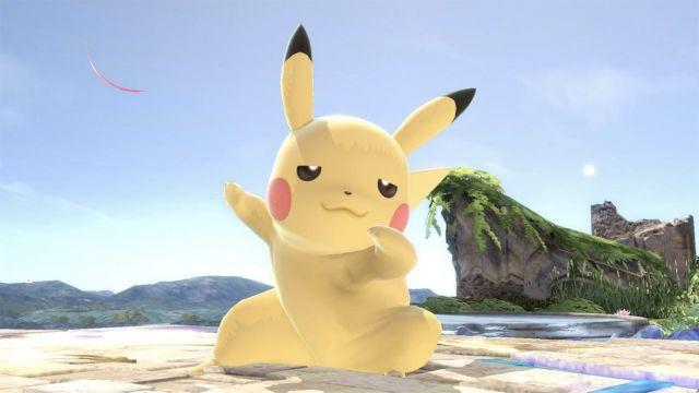 Pikachu bailando en Smash Bros