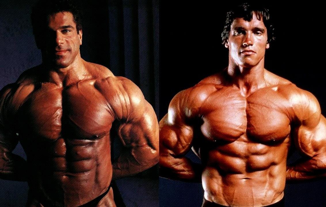 Lou Ferrigno y Arnold Schwarzenegger