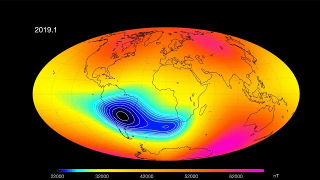 campo magnético de la Tierra 2020