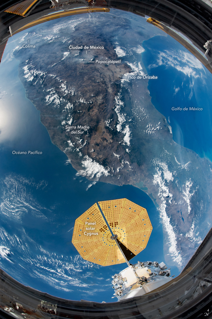 México visto desde el espacio