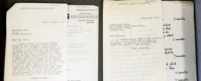 Cartas Alan Turing Universidad Manchester