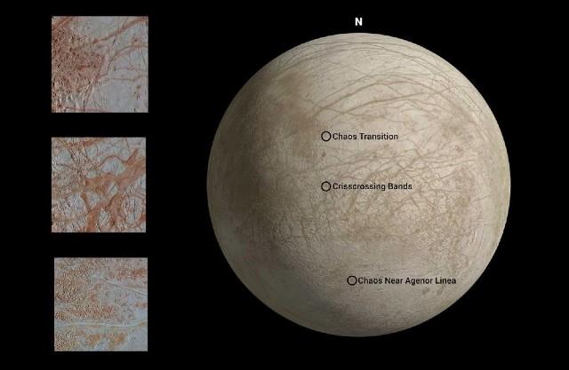 Europa Júpiter Luna NASA