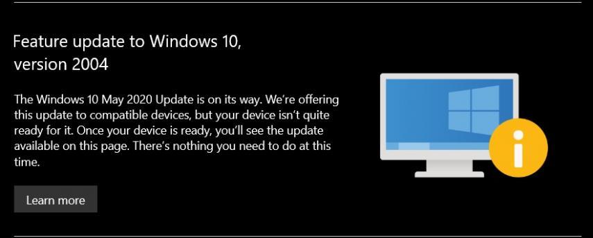 Microsoft bloqueó las actualizaciones de Windows 10 de mayo