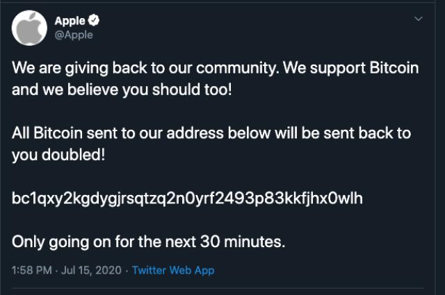Twitter Apple Estafa Bitcoin