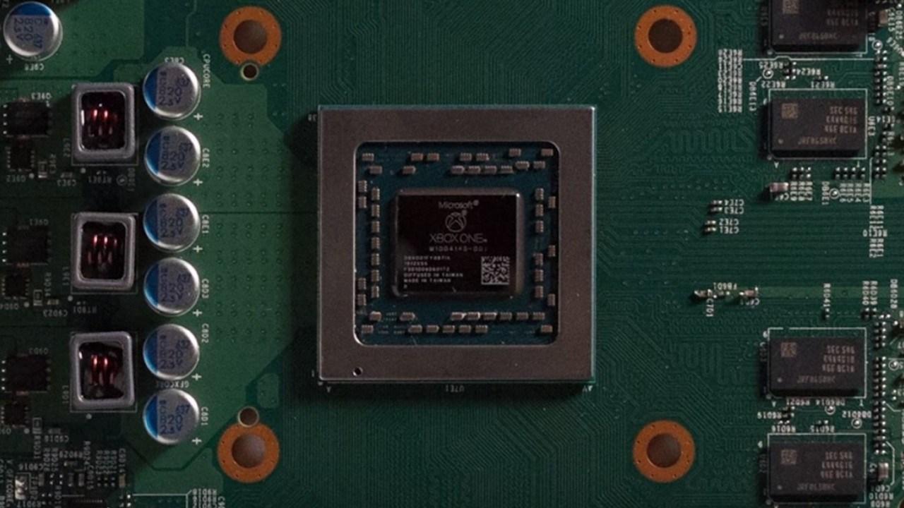Fotografía de motherboard de una consola de videojuegos