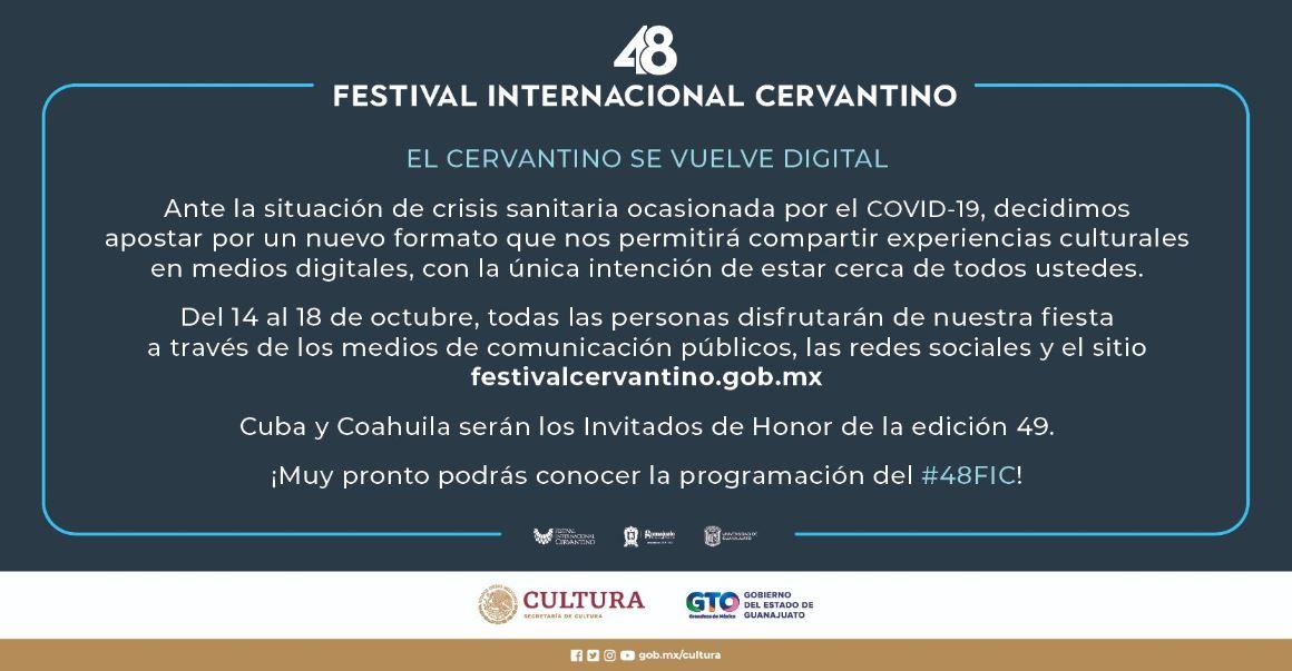 Festival Internacional Cervantino, Cervantino 2020, Cervantino