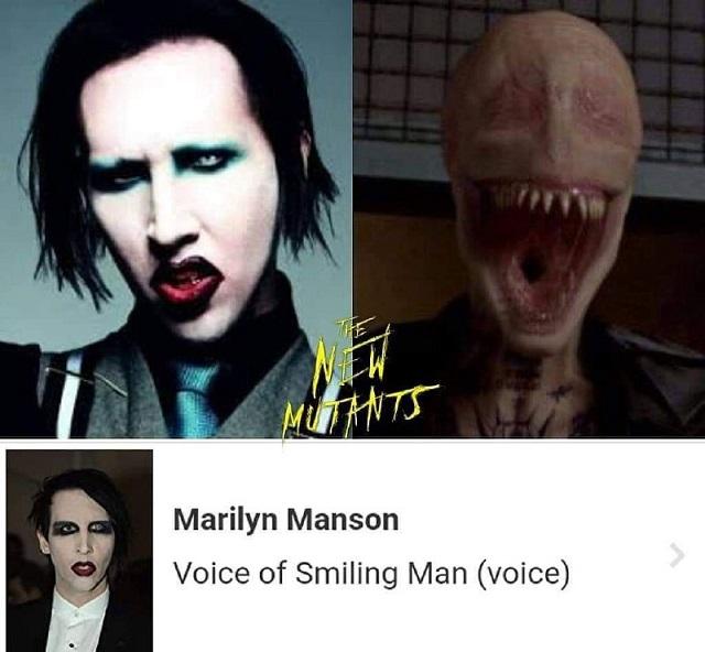 Marilyn Manson Smiley Men New Mutants