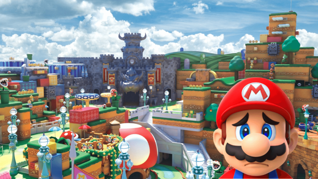 Supenden Construcción Super Nintendo World Orlando
