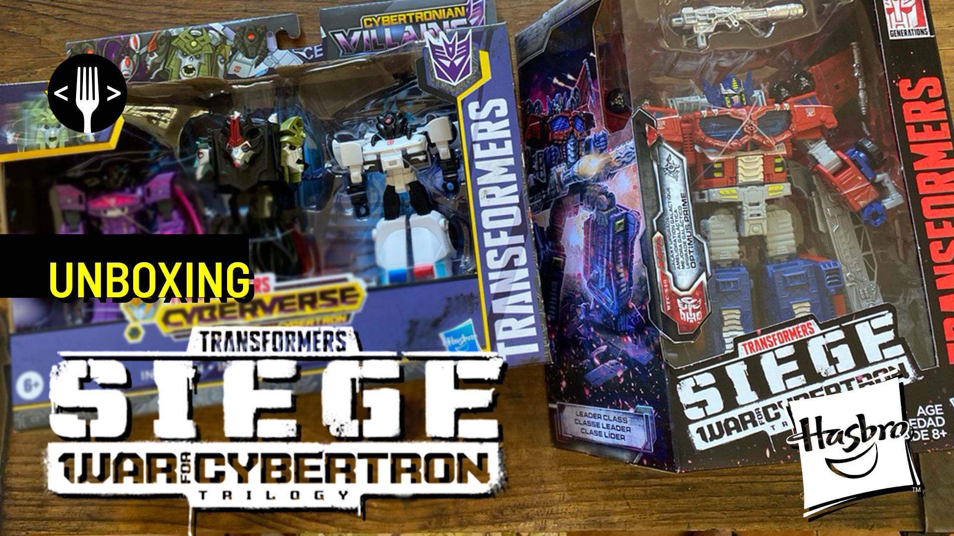 Unboxing: Transformers Optimus Prime Siege War for Cybertron