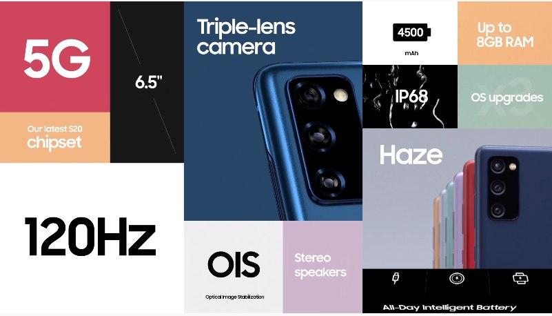 Galaxy S20 FE especificaciones