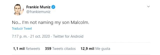 Frankie Muniz primer hijo