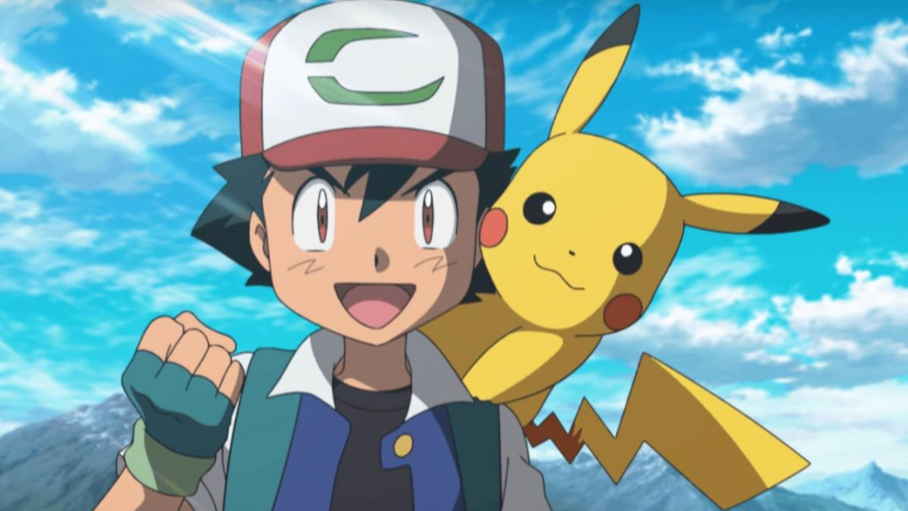 ash ketchum con pokemon pikachu