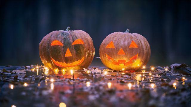 calabazas talladas de halloween