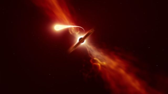 Telescopios captan estrella destruida por un agujero negro supermasivo