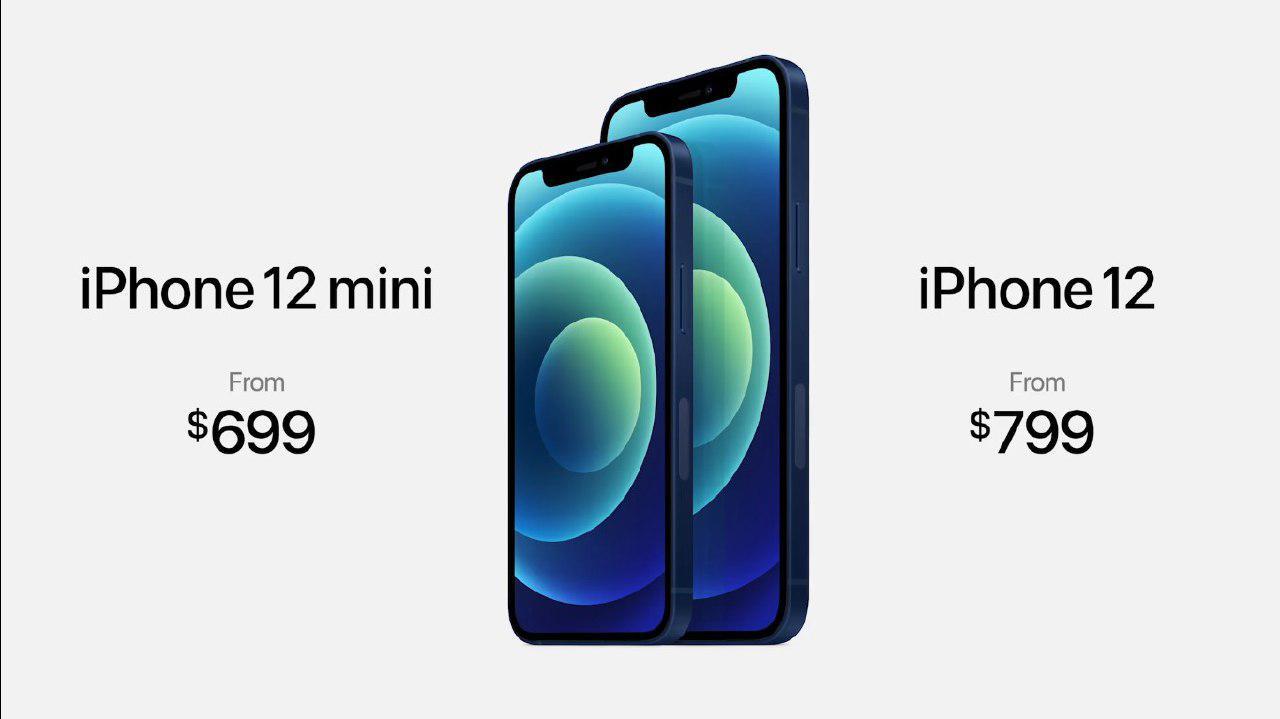Precio del iPhone 12 mini y iPhone 12