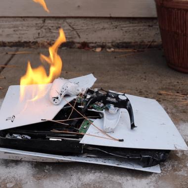 PlayStation5 Destruida