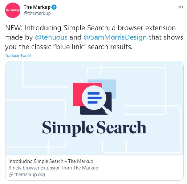 Crean buscador de Google como el de 1998