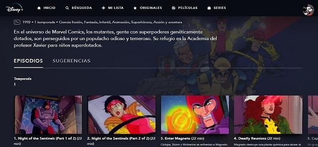 X-Men La Serie Animada en Disney+