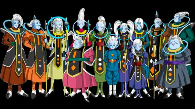 angeles de dragon ball super