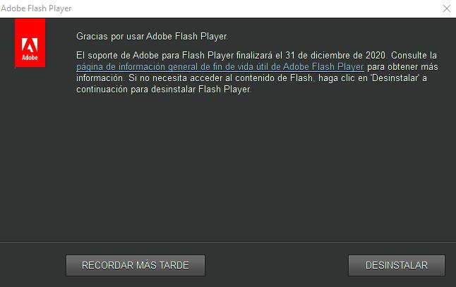 Adobe bloqueará Flash Player en 2021